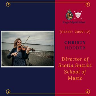 KES Alumni - Christy Hodder