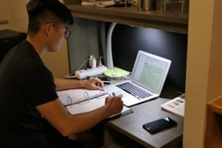 Dorm studying